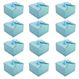 MissShorthair Gift Boxes,12 Pack Solid Color Decorative Boxes for Small Gifts,Favor Boxes for Christmas,Wedding,Birthday,Party,Holidays (Blue)