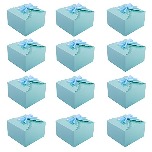 MissShorthair Gift Boxes,12 Pack Solid Color Decorative Boxes for Small Gifts,Favor Boxes for Christmas,Wedding,Birthday,Party,Holidays (Blue) by MissShorthair