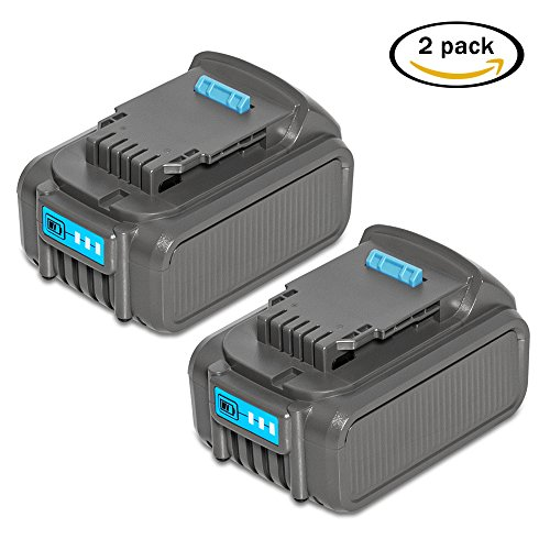 RSTECH 2 Pack DCB205 20V MAX 5.0Ah Lithium Li-ion Replacement Battery for Dewalt Max XR High Capacity Cordless Power Tools DCB204 DCB205-2 DCB200 DCB180 DCD985B DCD771C2 DCS355D1 - Internal Blower Kit