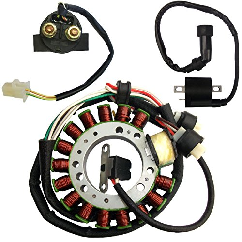 Magneto Ignition Starter (Magneto Stator Starter Relay Ignition Coil for Yamaha Big Bear 350 YFM350 1992 1993)