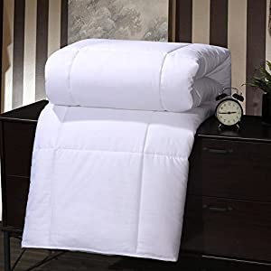 Royal Bedding Abripedic MULBERRY SILK Fiber filled Blanket, Duvet Insert, 100% Cotton Shell, 400 Thread count, Breathable, Hypoallergenic, White from Royal Hotel Bedding