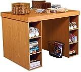 Venture Horizon Project Center Desk with 2- 3 Bin Cabinets-Oak
