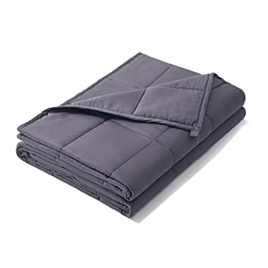 Weighted Idea Weighted Blanket 25 lbs Adult | 60''x80'' | Cotton | Grey | for Adults Women and Men
