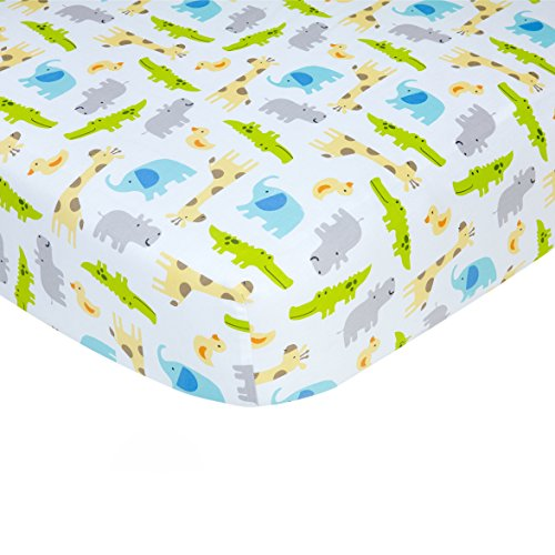 Carter's Safari Print Cotton Sateen Crib Sheet - 52