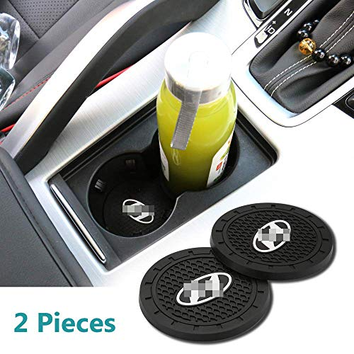 (Auto Sport 2.75 Inch Diameter Oval Tough Car Logo Vehicle Travel Auto Cup Holder Insert Coaster Can 2 Pcs Pack for Hd Accessory)