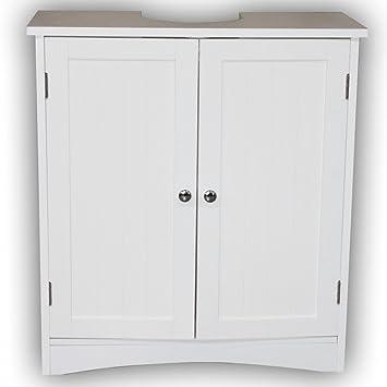 1PLUS Landhaus Waschbeckenunterschrank 60 x 30 x 65cm (B x T x H) Badalona,  Weiß