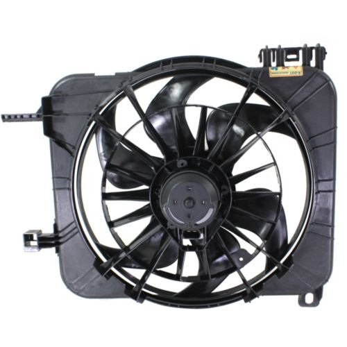 (Make Auto Parts Manufacturing Premium Radiator Engine Cooling Fan Assembly With A/C Manual Controls & Heavy Duty Cooling For Chevrolet Cavalier 1995-2002 / For Pontiac Sunfire 1995-2002 - GM3110123)