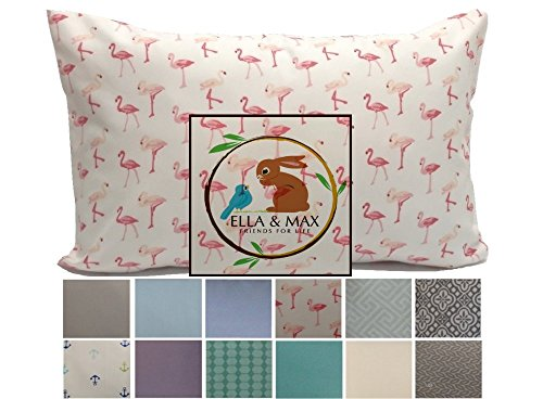 TODDLER PILLOW CASE – Pink Flamingo. 13×18 up to 14×19. CUDDLY, SUPER SOFT microfiber fabric. Easy to wash  no ironing. Handmade in USA.100% SATISFAC…
