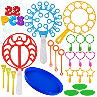 22 Pack of Colorful Bubble Wand Toys Bubble Maker Wand Bubbles For Kids