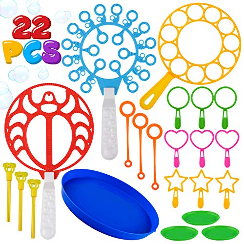 Abs Wand - 22 Pack of Colorful Bubble Wands Toys Bubble Making Wand Bubbles For Kids