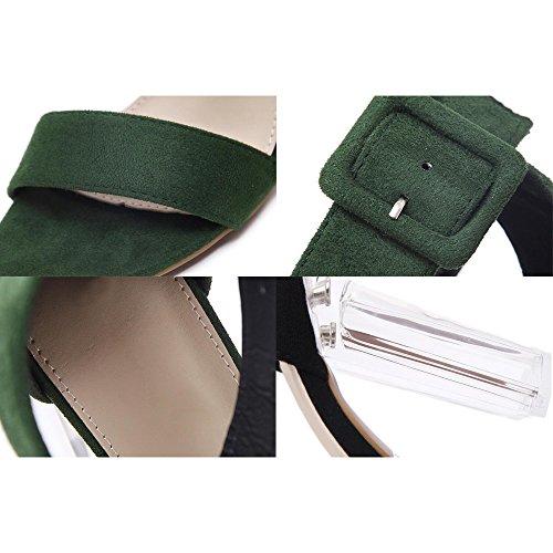 Eastlion Exposed Toe Summer Female Sandals Crystal Shoe Heel High-heeled Sandals Style 1 Black qir55aF0