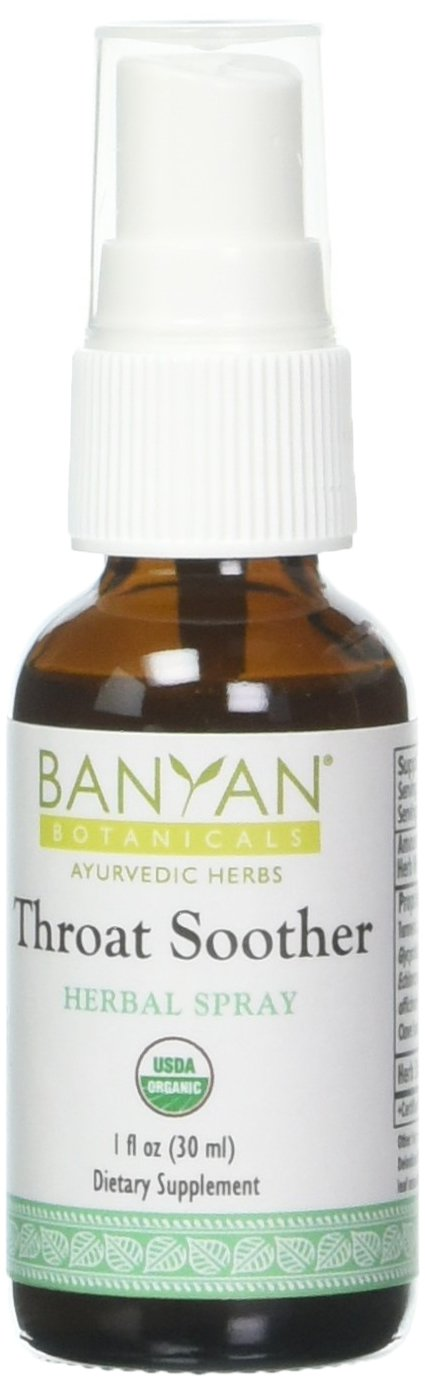 Banyan Botanicals Throat Soother Herbal Spray – Organic Herbal Throat Spray for Throat Comfort and Immune Support* – 1 fl oz. – Non-GMO Sustainably Sourced Vegetarian