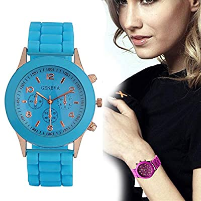 Triskye Fashion Casual Unisex Boys Girls Geneva Silicone Watch On Sale Clearance Classic Quartz Movement Wrist Watch for Children by Triskye
