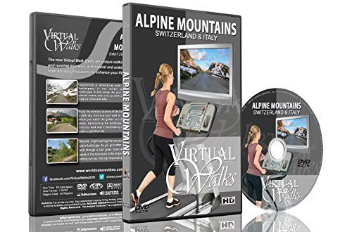 Virtual Walks - Alpine Mountains of Switzerland & Italy for Indoor Walking, Treadmill and Cycling - Sunglass Alpina