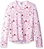 Hot Chillys Youth Pepper Skins Print Crewneck, Heart Dance, Medium