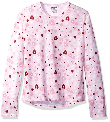 Hot Chillys Youth Pepper Skins Print Crewneck, Heart Dance, Medium by Hot Chillys