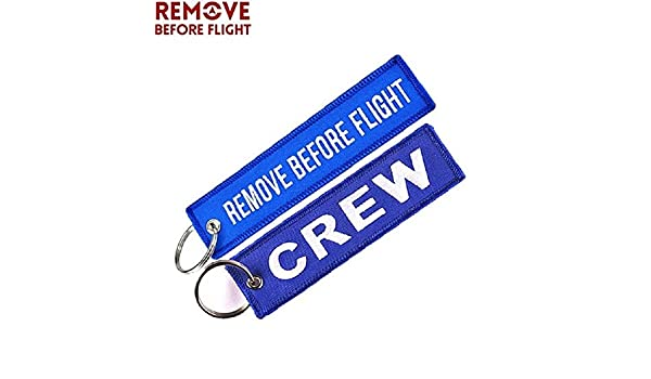 Amazon.com: Key Rings Remove Before Flight Crew Keychain ...