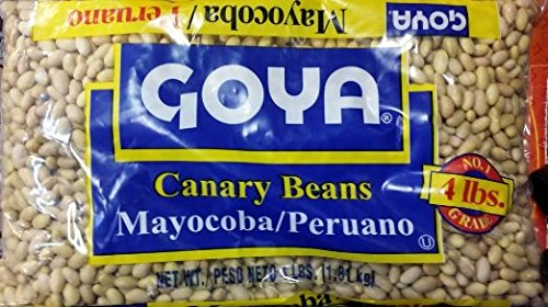 Goya Dried Canary Beans, Mayocoba/Peruano 4 Lb (Pack of 4) by Goya