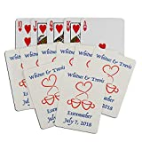 10 Decks You're On Deck Personalized Playing Cards, Custom Deck of Cards- Family, Weddings, Fundraisers, Corporate Events, Bar/Bat Mitvahs, Clear Plastic Storage Case (2 1/2'' x 3 1/2'')