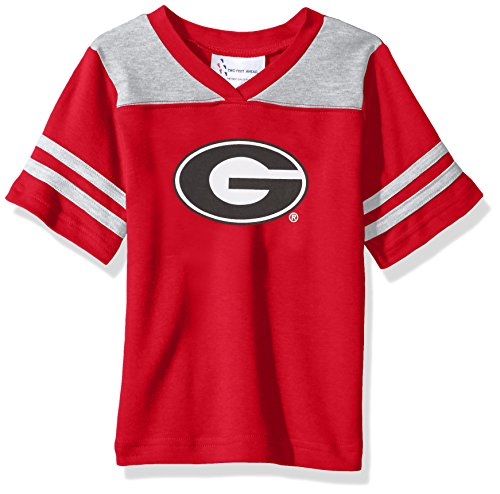 NCAA Georgia Bulldogs Toddler Boys Football Shirt, Red, 4 (Shirt Jersey Football Ncaa)