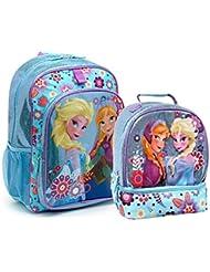 Disney Frozen Anna & Elsa Girls Backpack and Lunch Box Set