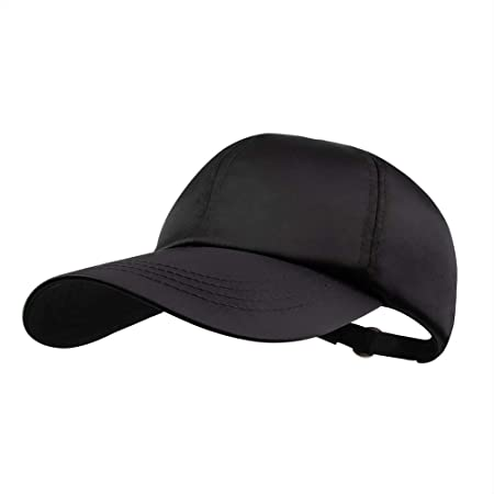 9fdc7791 Amazon.com: Unisex Satin Ball Cap - Panel Dad Cap Plain Washed Adjustable  Unstructured Hat for Baseball Golf Tennis (Black): Clothing