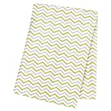 Trend Lab Sage and Gray Chevron Deluxe Flannel Swaddle Blanket
