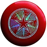"Discraft Ultra-Star 175g Ultimate Frisbee ""Starburst"" - rot"