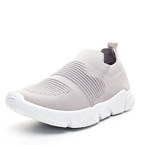 Athletic and Breathable DRKA Shoes Walking Grey919 Sneakers on Slip Lightweight Mesh Women 70qfA5g