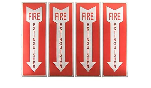 Señales de extintor de incendios - 4 unidades de metal de ...