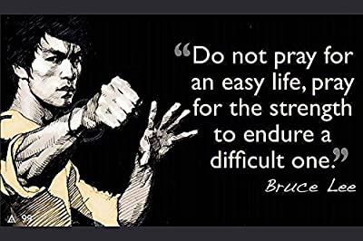 "Do not pray….Bruce Lee(Quotes 26) Poster { 12""x18""} By A-ONE POSTERS"