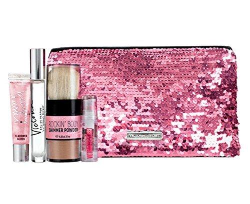 Victoria's Secret Victoria Perfume Bling Sequins Bag Gift Set Eau De Parfume Rollerball Lip Gloss Hair Serum and Body Shimmer