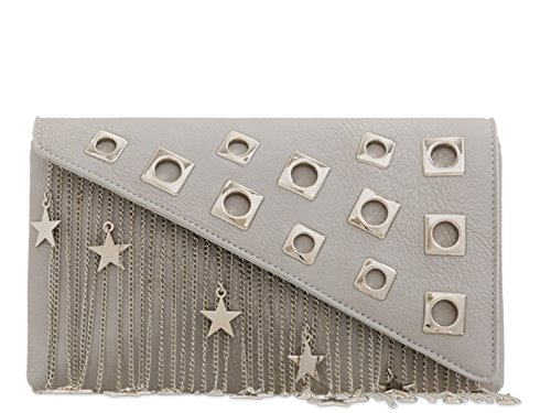 Bag Wedding Prom LeahWard Tassel Clutch Star Grey Out 2306 Night Women's Handbags 1qwHIwnX