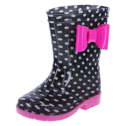 Minnie Mouse Bowtique Girls' Black Pink Girls' Minnie Bow Rainboot 12 Regular (Minnie Mouse Rain Boots For Girls compare prices)