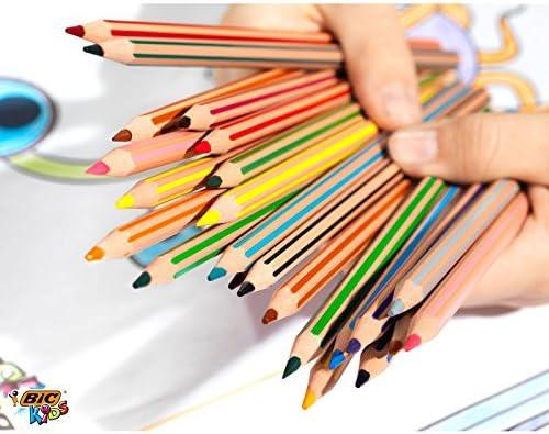 Coloured Assorted Cardboard Box 12er Kartonetui Bic kids Crayon Tropicolors 2/Colouring Pencils