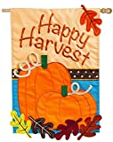 Evergreen Happy Harvest Applique House Flag, 28 x 44 inches For Sale
