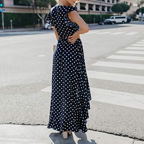 Linkay Bleu De Boho Mini Dots Jupes Mode Summer 2019 Maxi Femme Beach Longue Robe Lady 6fqrwH6