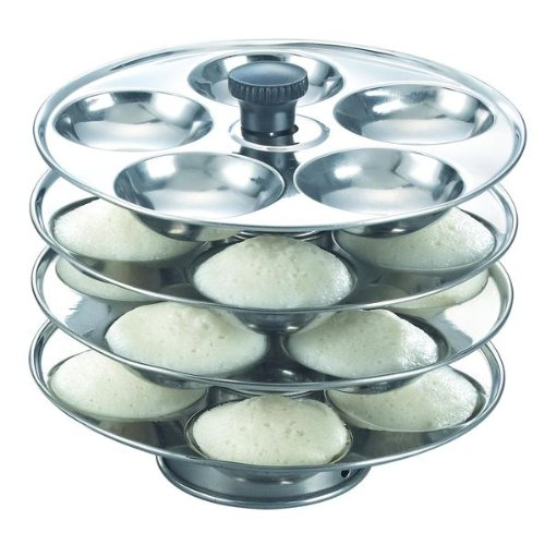 Prestige Stainless Steel 4 Plate Idli Stand - Makes 20 Idlis