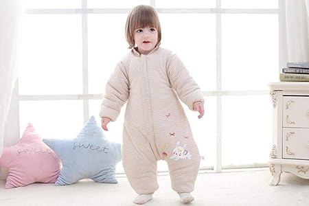 Saco de Dormir con Pies para Bebé,Sacos de dormir de algodón de otoño e invierno para bebés, piernas para niños y Kitty a prueba de patadas_73cm, Piernas separadas invierno saco antideslizante: Amazon.es: