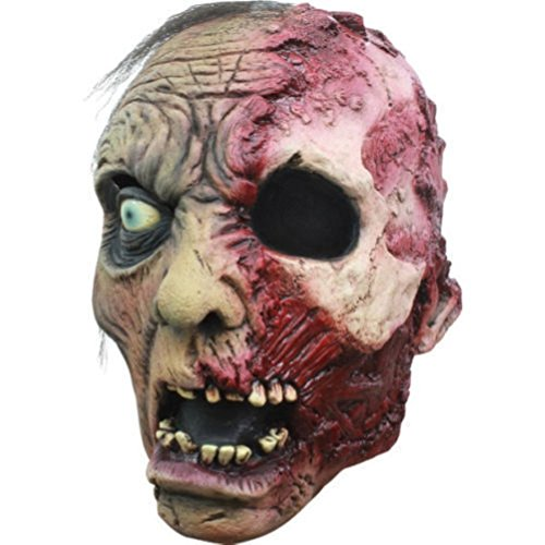 Burnt Zombie Costumes For Adults (Burnt Zombie Adult Latex Mask Horror Halloween Human Unisex Dead Scars)