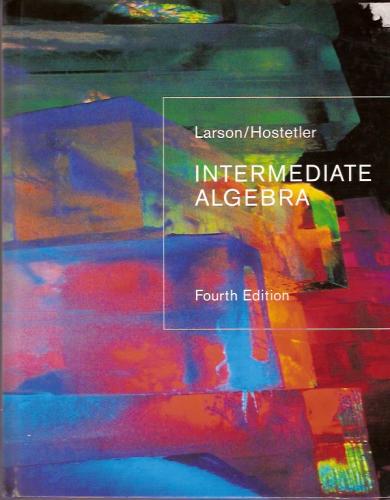 Read Online Intermediate Algebra, 4th Ed. PDF