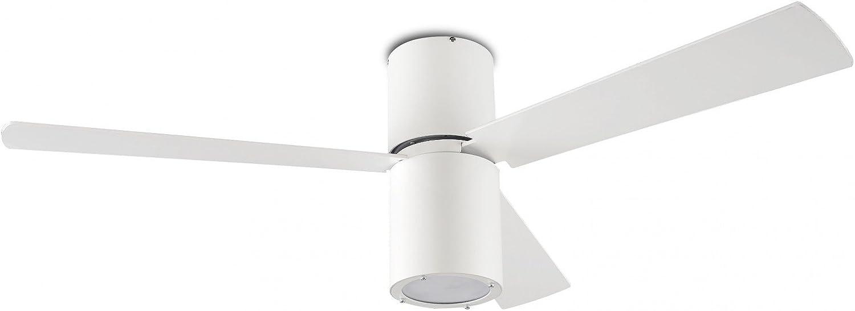 Diseño de ventilador de techo Formentera blanco luz 132 cm de LEDS ...