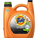 Tide Plus Febreze Sport Active Fresh Scent HE Turbo Clean Liquid Laundry Detergent, 3700087518,72 Loads 138 oz