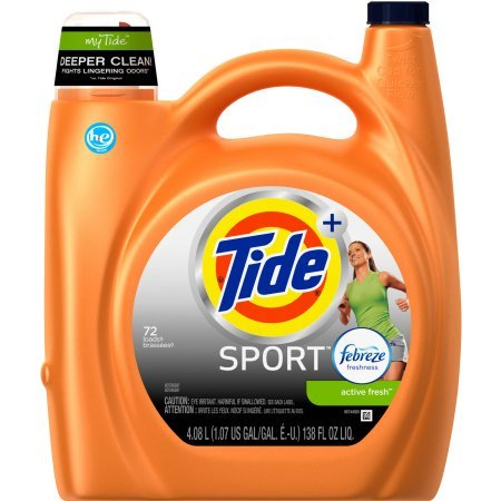 ort Active Fresh Scent HE Turbo Clean Liquid Laundry Detergent, 3700087518,72 Loads 138 oz ()