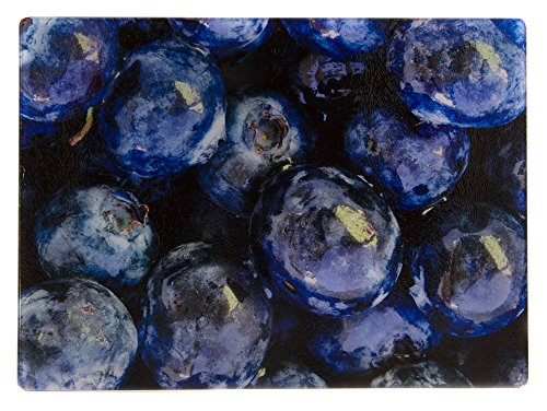 "McAulay Arts Glass Cutting Board Blueberries 11.25"" x 7.87"""