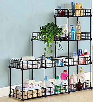 Amazoncom ALEKO Easy Assemble Grid Wire Modular Shelving and