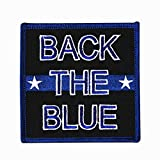 Support Back The Blue Patch Police Officers Law Enforcement Iron On Applique