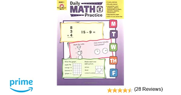 Workbook first grade worksheets pdf : Amazon.com: Daily Math Practice, Grade 2 (9781557997425): Evan ...