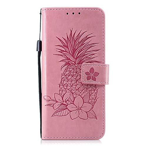 AICEDA Samsung Galaxy S9 Case, Premium PU Leather Wallet Pouch Flip Cover Case Anti-Scratch Defender CoverBack case for Samsung Galaxy S9 (Pink)