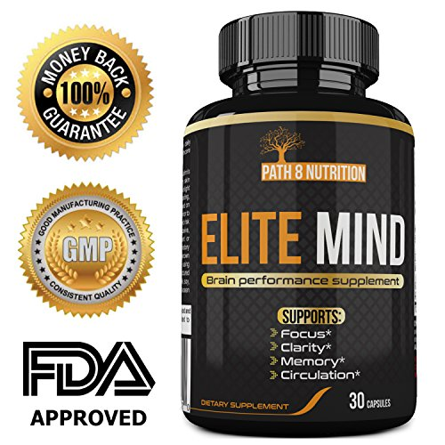 Premium Brain Booster Supplement - All Natural Nootropic Stack - Brain Supplement Supports Enhanced Memory, Focus, and Clarity - USA Formulated, 30 Day Supply, Powerful One Per Day Formula